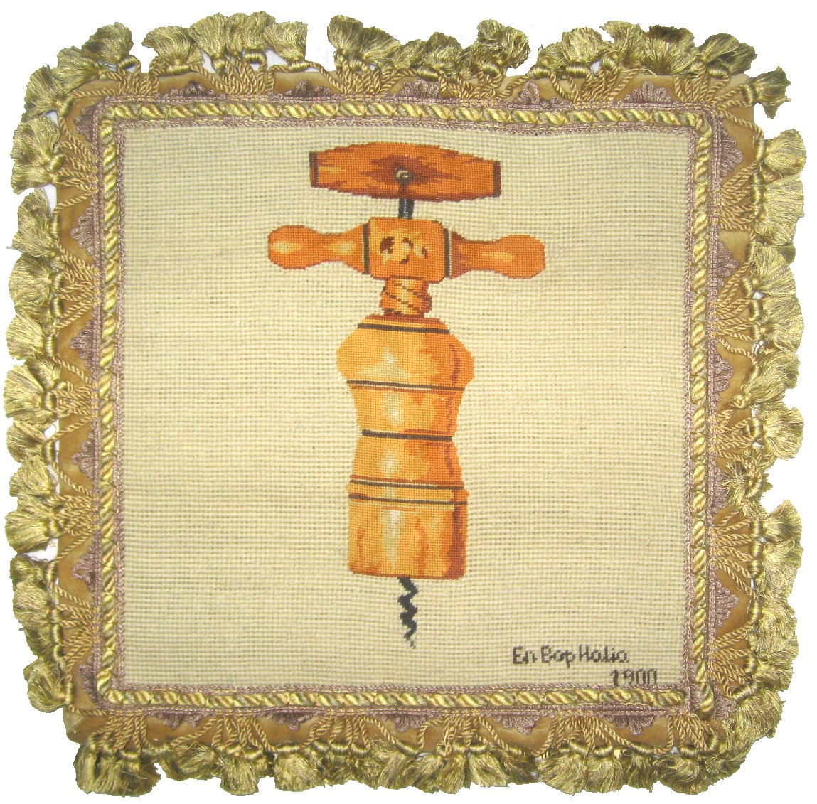 """En Boy, Italia"" Needlepoint Pillow"