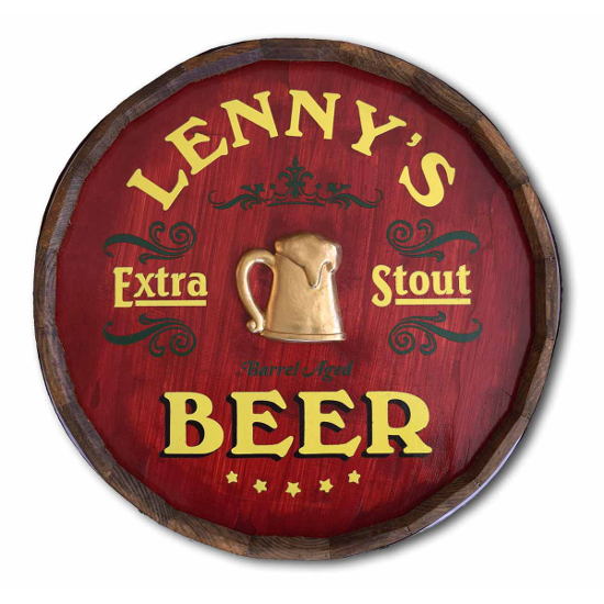 Extra Stout Personalized Quarter Barrel Sign