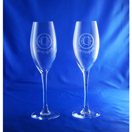 Personalized Finesse Toasting Flutes (set of 2)