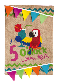Garden Burlap It's 5 O'Clock Somewhere Flag