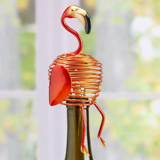Flamingo Metal Wine Bottle Stopper