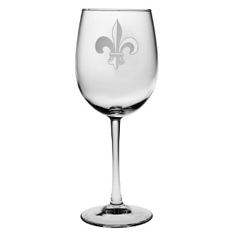 Fleur De Lis All Purpose Wine Glass Set