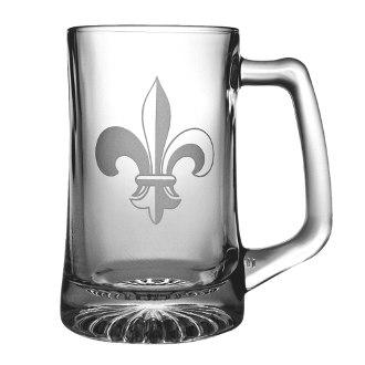 Fleur De Lis Beer Mugs (set of 4)