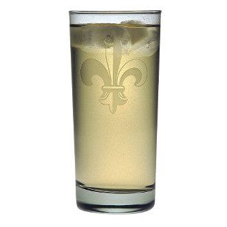 Fleur De Lis Cooler Glass Set