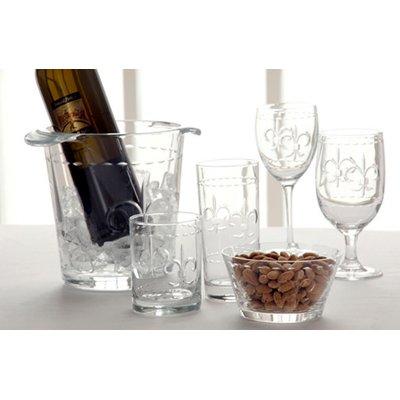 Fleur De Lis Sand Etched Glassware