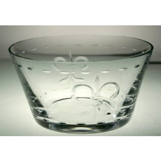Fleur De Lis Clear Small Bowls (set of 4)