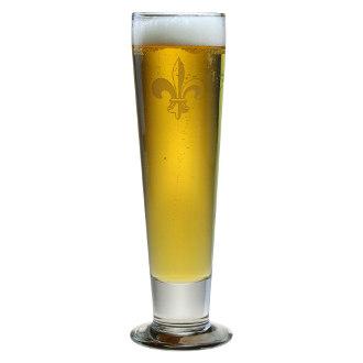 Fleur De Lis Tall Pilsner Glass Set