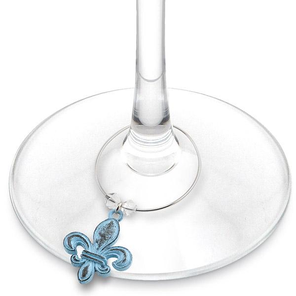 Vintage Fleur De Lis Wine Glass Charms