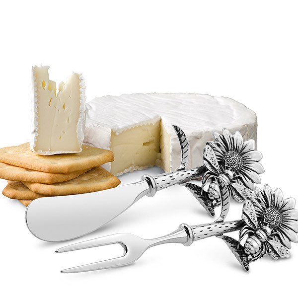 Sunflower Cheese Spreader & Fork Set