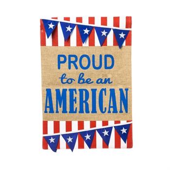 Garden Burlap American Pennant Flag