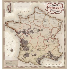 France Wine of Ages – Vin d'Ages Artistic Map