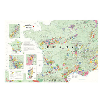 Delong's Wine Map of France