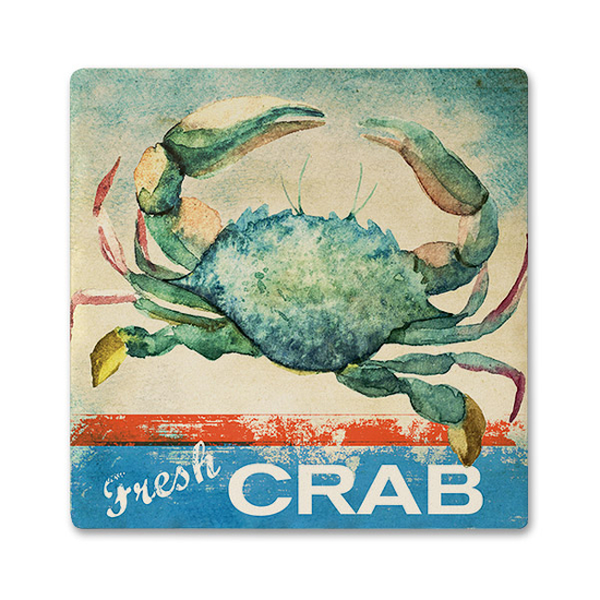 Fresh Crab Ceramic Beverage Coaster