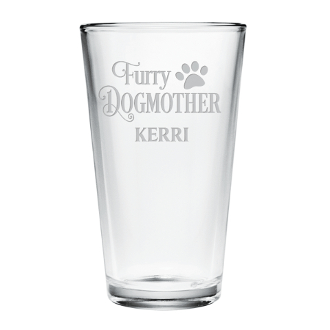 Personalized Furry Dogmother Pint Glasses (set of 4)