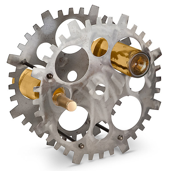 Wheel Gear Wine Bottle Rack