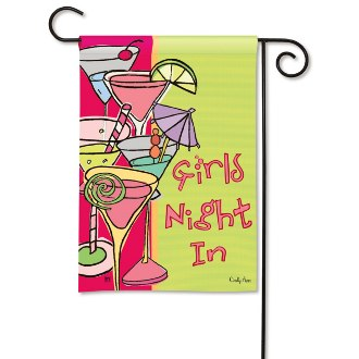 Girls Night In Garden Flag