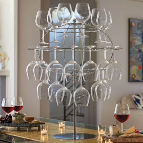 Globe Wine Glasses Display Rack