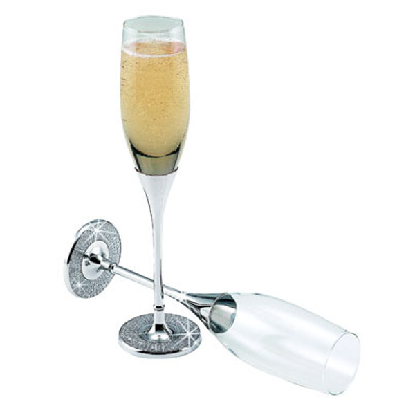 Glitter Galore Champagne Toasting Flutes (Set of 2)