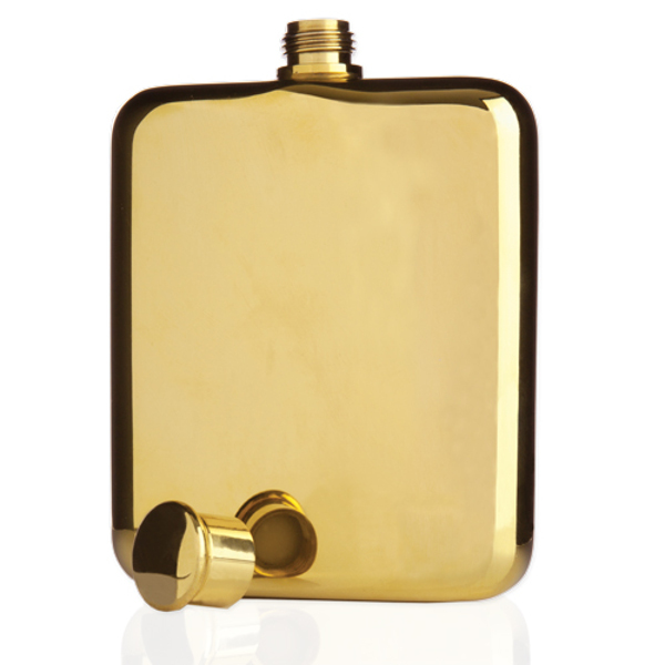 Belmont 14 Karat Gold Plated Flask
