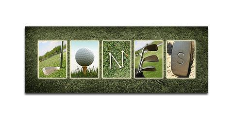 Golf Name Print