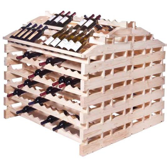 312 Bottle Wooden Modular Wine Storage System - Natural