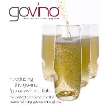 Govino Stemless Shatterproof Champagne Flutes