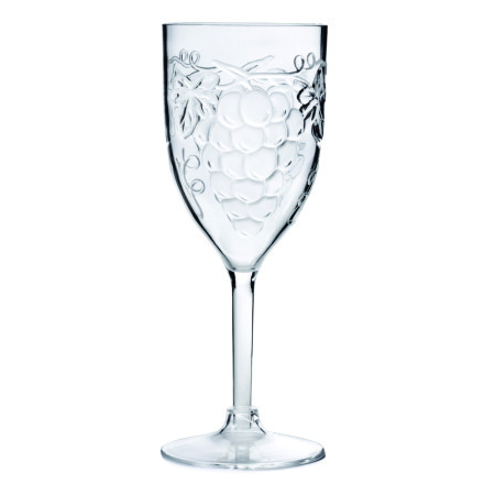 Acrylic Wine Glasses with Grape Design (set of 6)