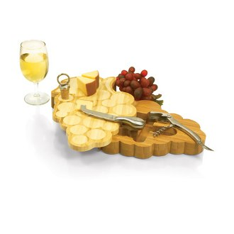 Wine Grapes Cutting Board Gift Set