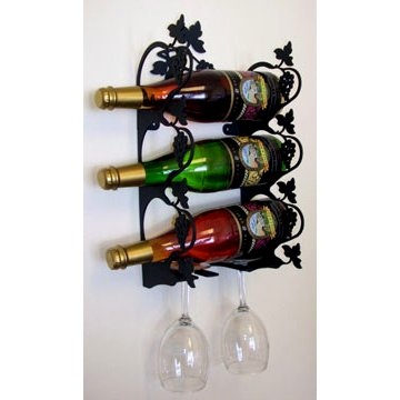 Grapevine Wine Rack - Wrought Iron