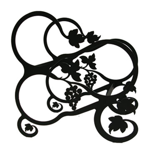 Wrought Iron Tabletop Grapevine Wine Rack
