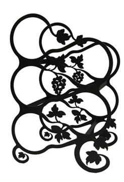 Wrought Iron Tabletop Grapevine 5 Bottle Wine Rack