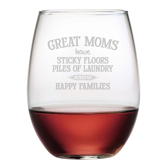 Great Moms Stemless Wine Glasses (set of 4)