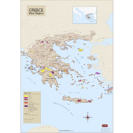 Greece Wine Regions Map