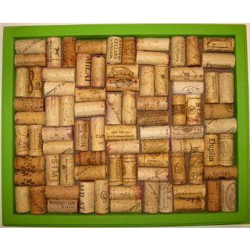 Bright Green Wine Cork Board