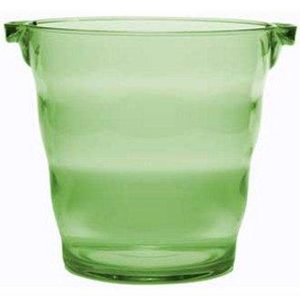 Green Plastic Party Bucket, 2 Bottle