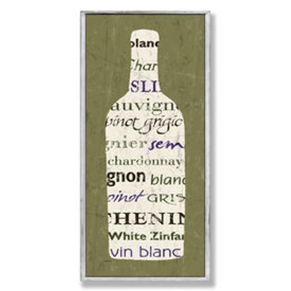 Green Wine Bottle Wall Art