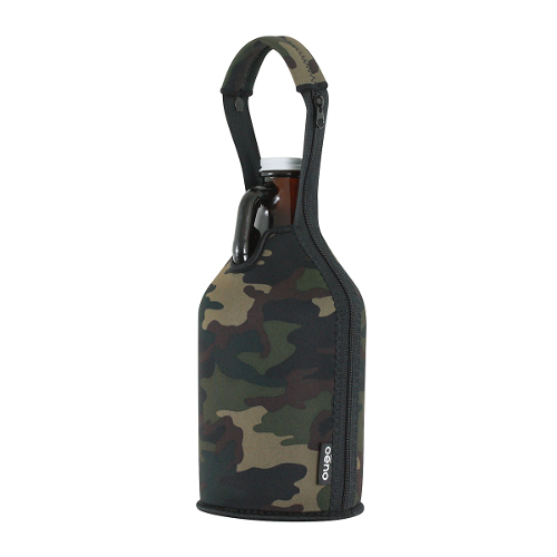Neoprene Beer Growler Carrier - Camouflage