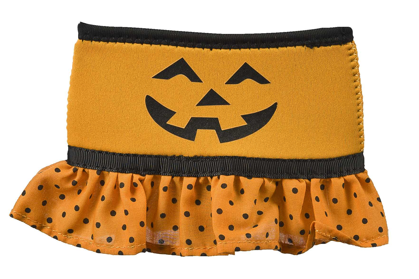 Halloween Wine Glass Skirt, Pumpkin