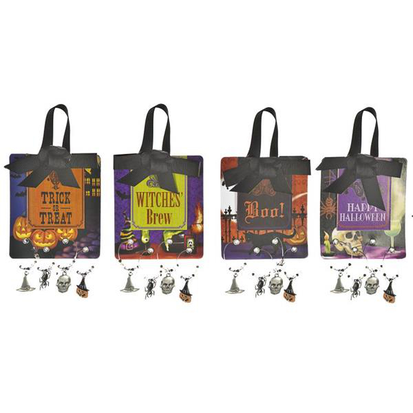 Halloween Wicked Wine Glass Charms
