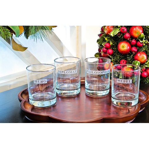 Hero / Rebel Double Old Fashioned Glasses (set of 4)
