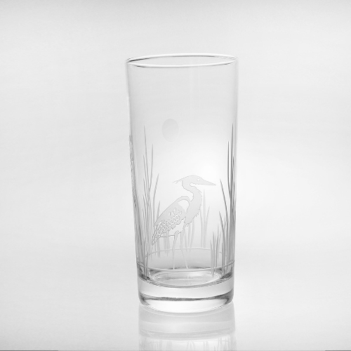 Etched Heron Cooler Glasses (set of 4)