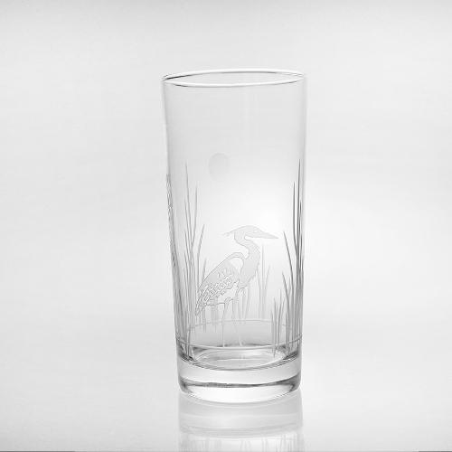 Etched Heron Cooler Glasses (set of 4)