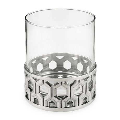 Hexagon Pewter Base Cocktail Tumbler