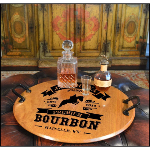 High Horse Personalized Barrel Head Serving Tray