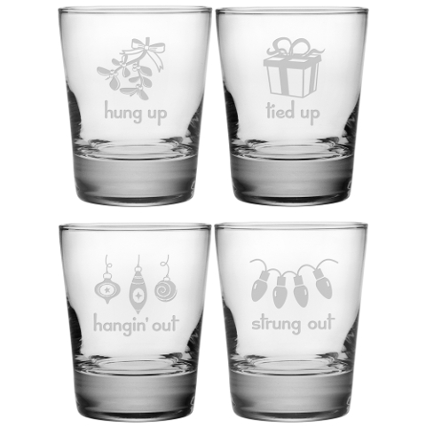 Holiday Hang Ups DOF Glasses (set of 4)