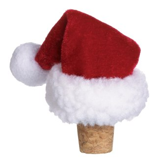 Santa Hat Holiday Wine Bottle Stopper