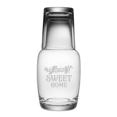 Home Sweet Home Water Carafe and Glass Set