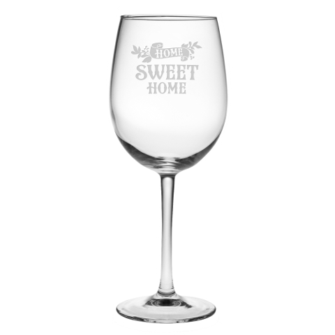 Home Sweet Home Stemmed Wine Glasses (set of 4)