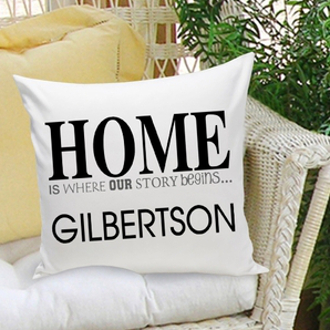 Personalized Romantic Home Throw Pillow