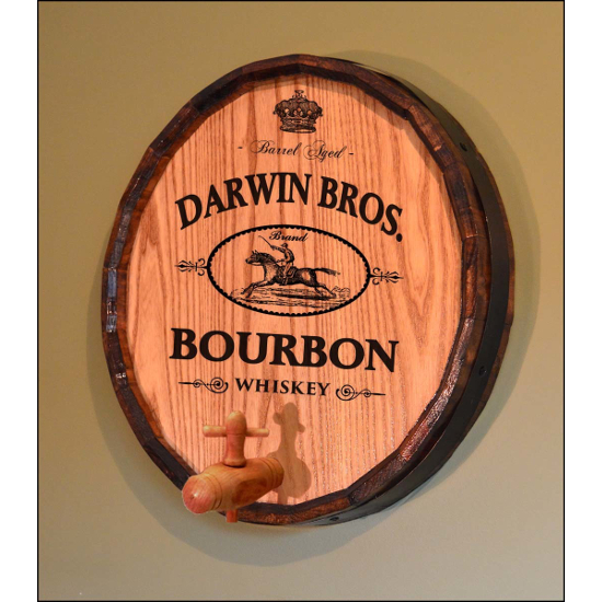 Personalized High Horse Bourbon Quarter Barrel Sign